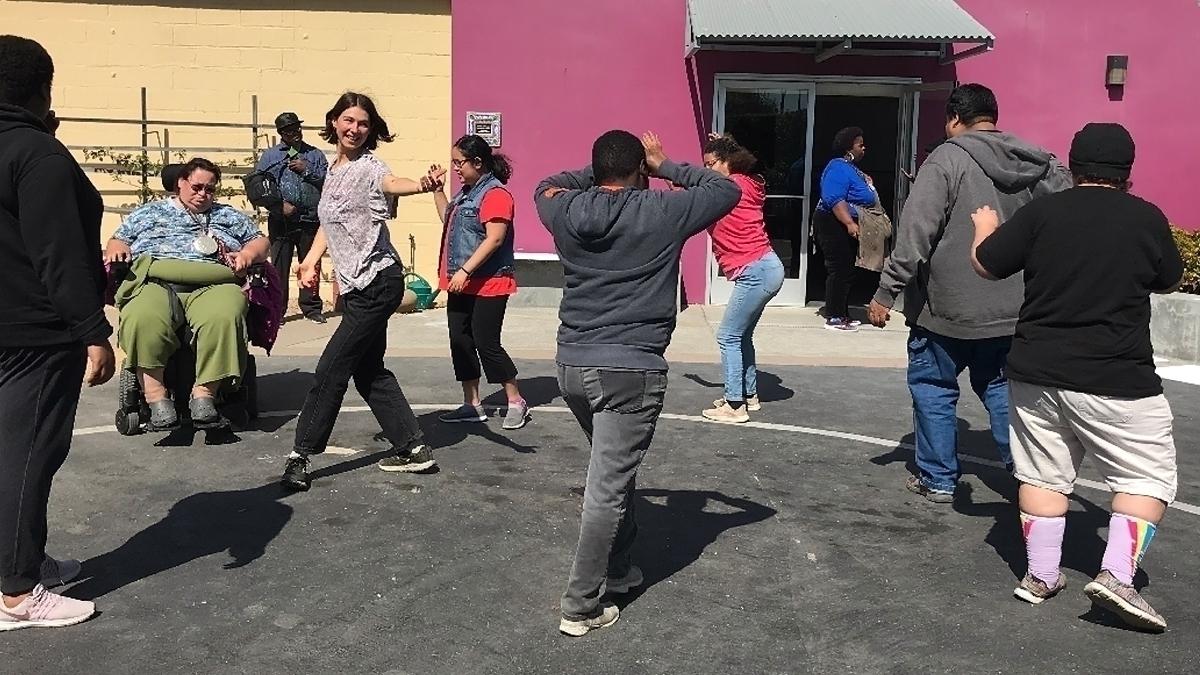 NIAD artists dancing