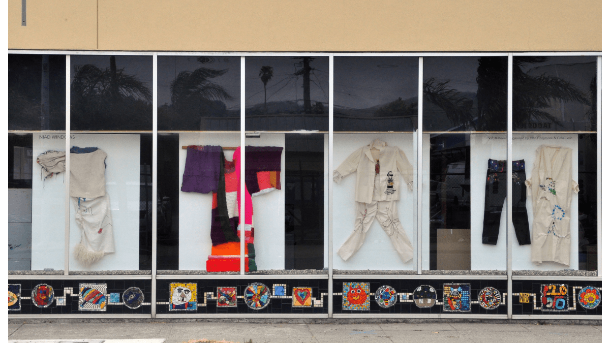 NIAD Windows Exhibition: Soft Material, Organized by Nan Collymore and Celia Lesh